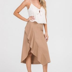 NWT Ruffle Midi Skirt